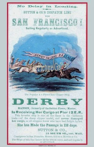 Clipper Ship - Derby (Advertisement)